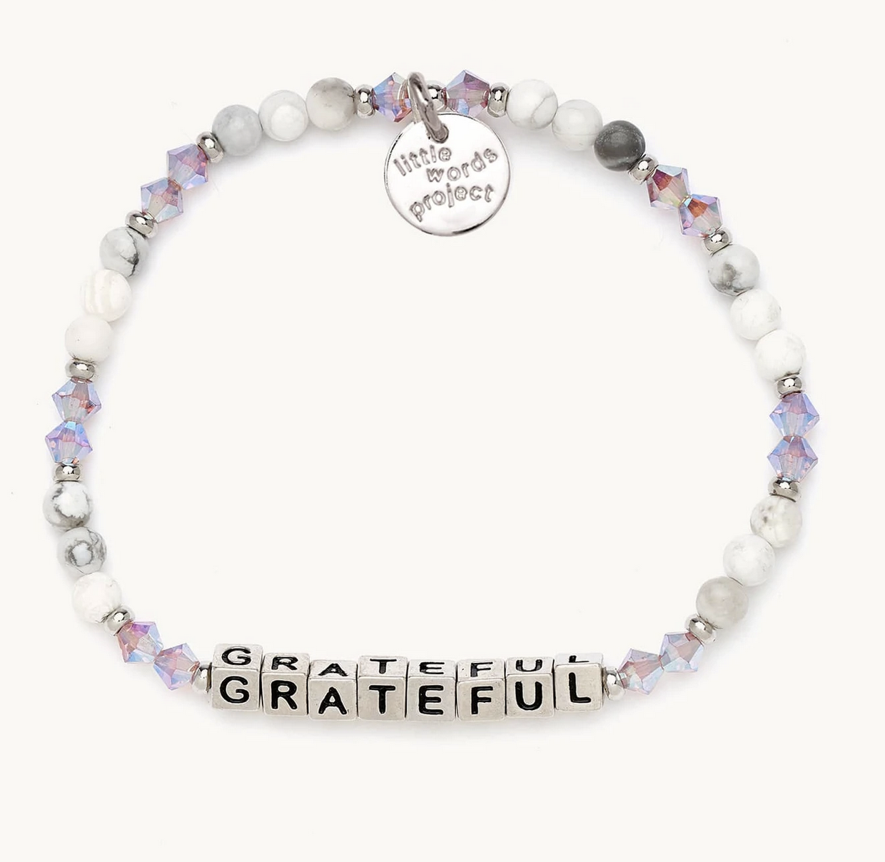 Little Words Project Grateful-Creampuff-Silver