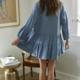 By Together Dotty Tunic Dress-Denim