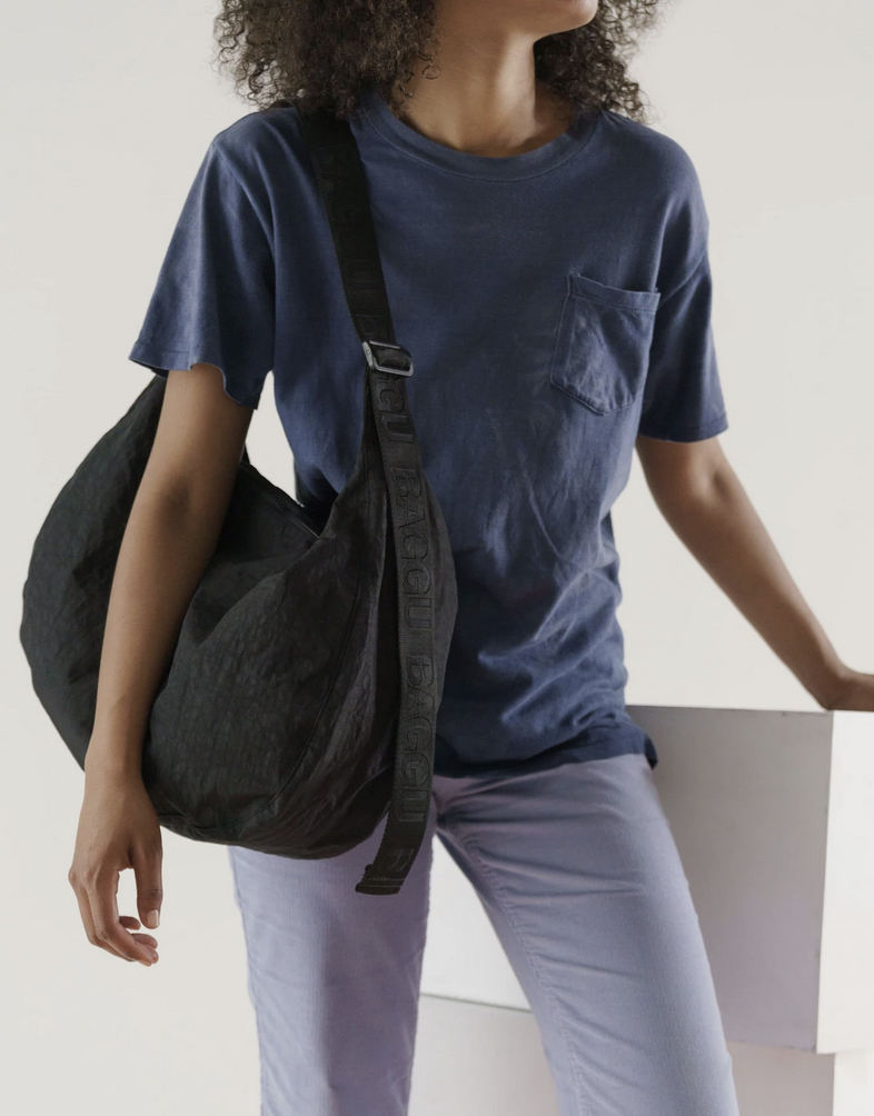 Baggu Large Nylon Crescent Bag - Black