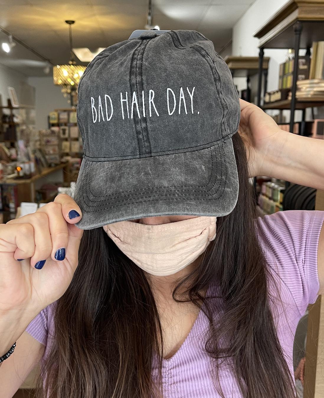 David & Young Bad Hair Day Cap-Black