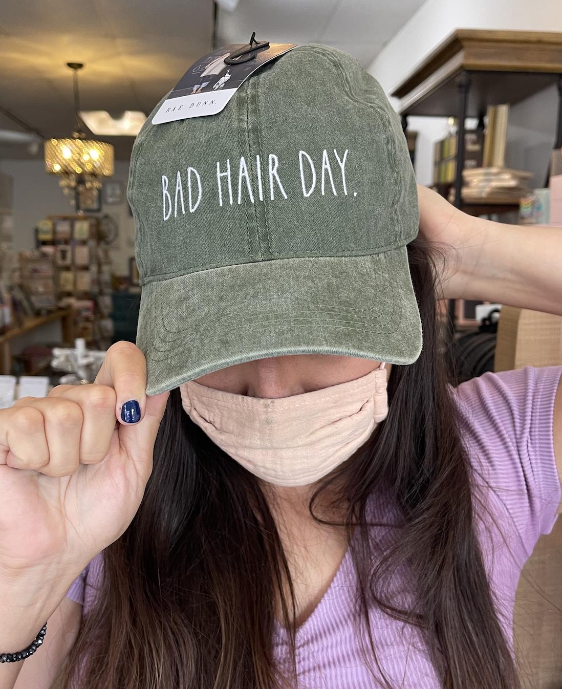David & Young Bad Hair Day Cap-Olive