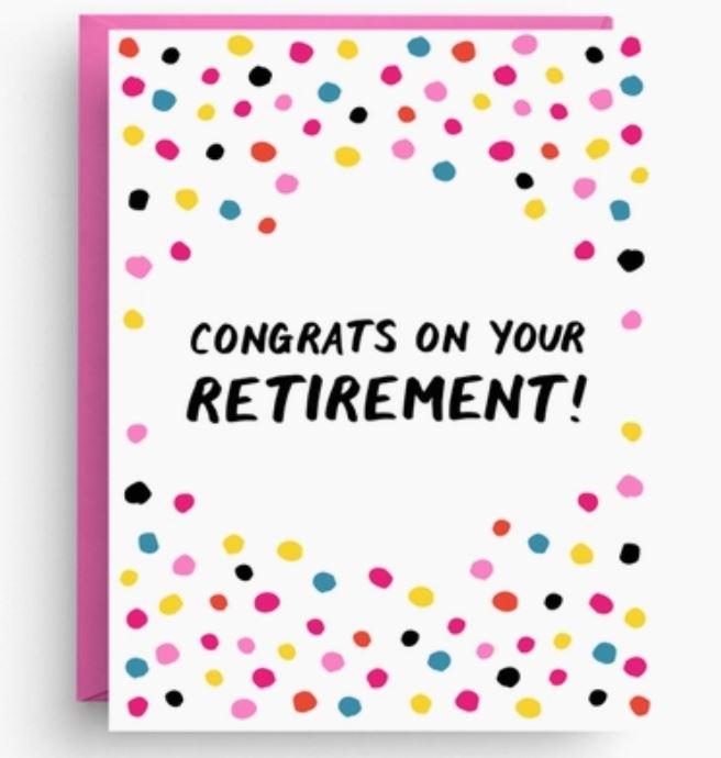 Nicole Marie Paperie Retirement Congrats Card