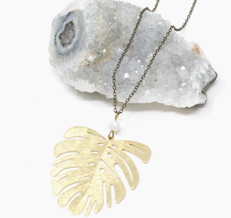Crafts and Love Monstera Necklace - Large