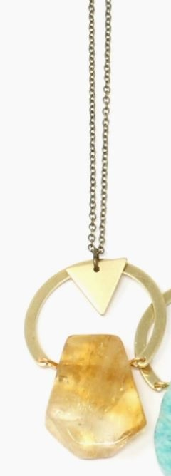 Crafts and Love Celeste Necklace  Citrine