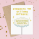 Siyo Boutique Getting Hitched Wedding Card