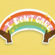 Siyo Boutique I Don't Care Vinyl Sticker