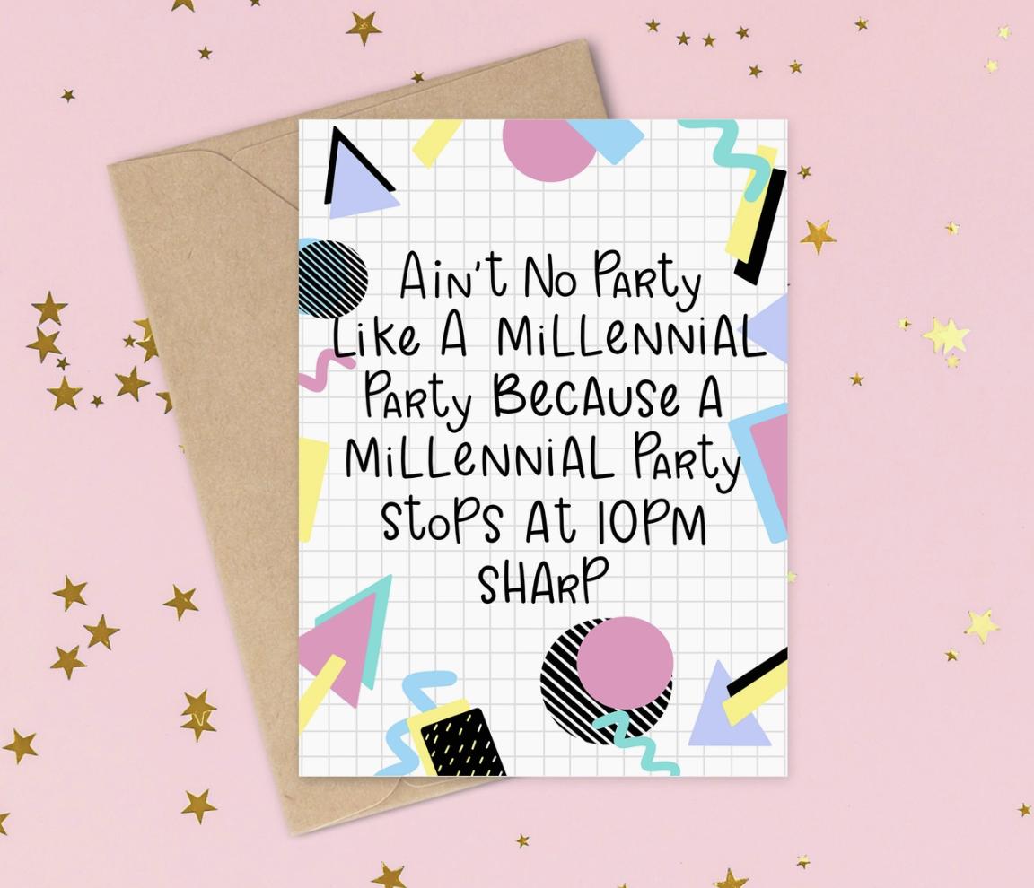Siyo Boutique Millennial Party Birthday Card