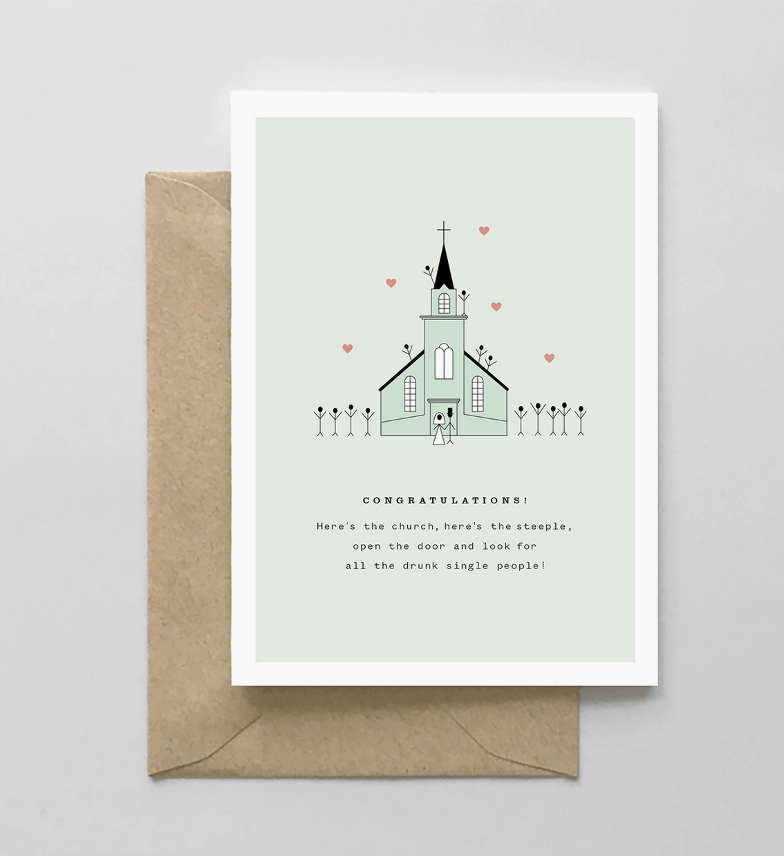 Spaghetti & Meatballs Here's the Church, Here's the Steeple, Open the Door Card