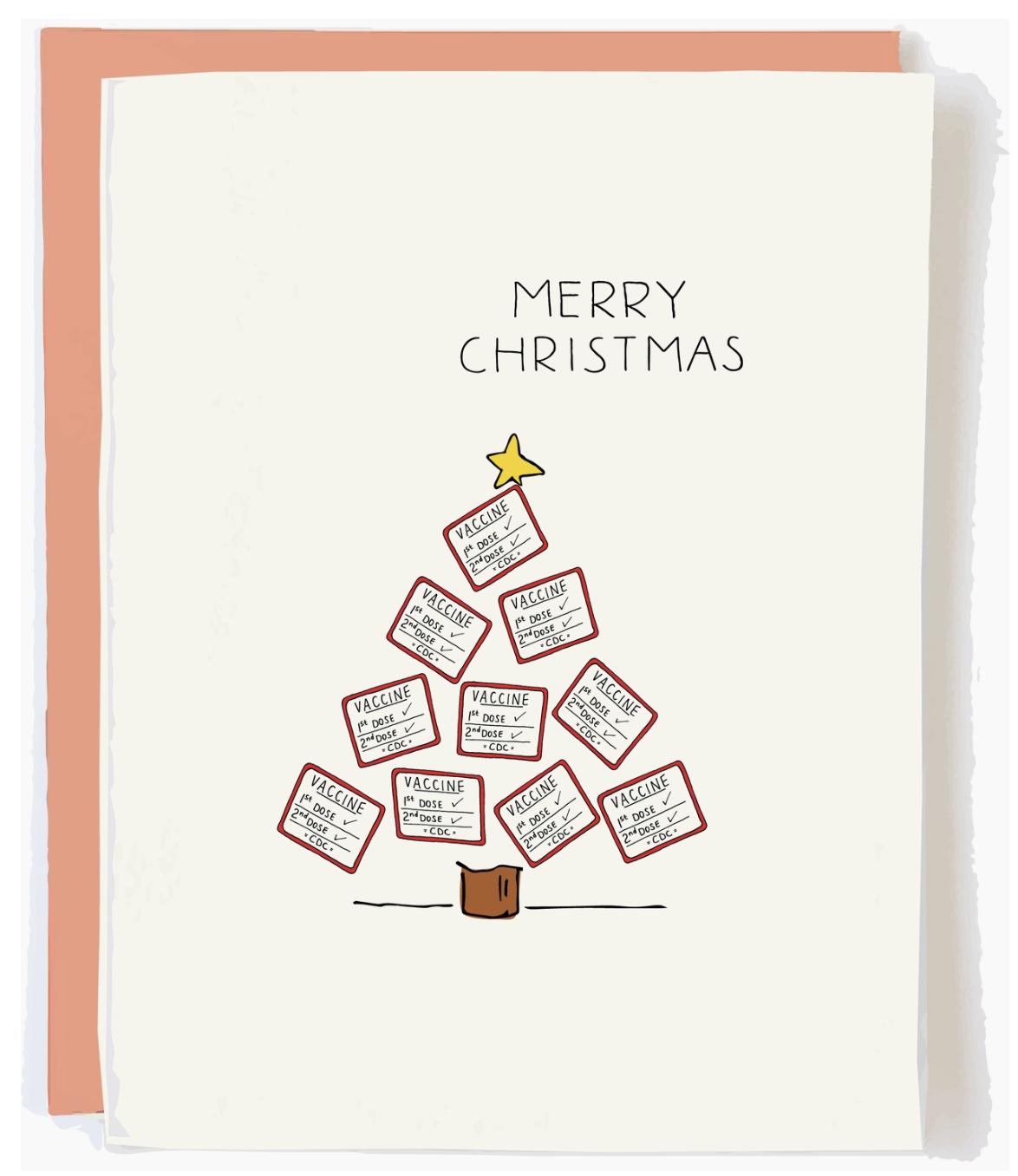 Pop + Paper Vaxmas Tree Christmas Card