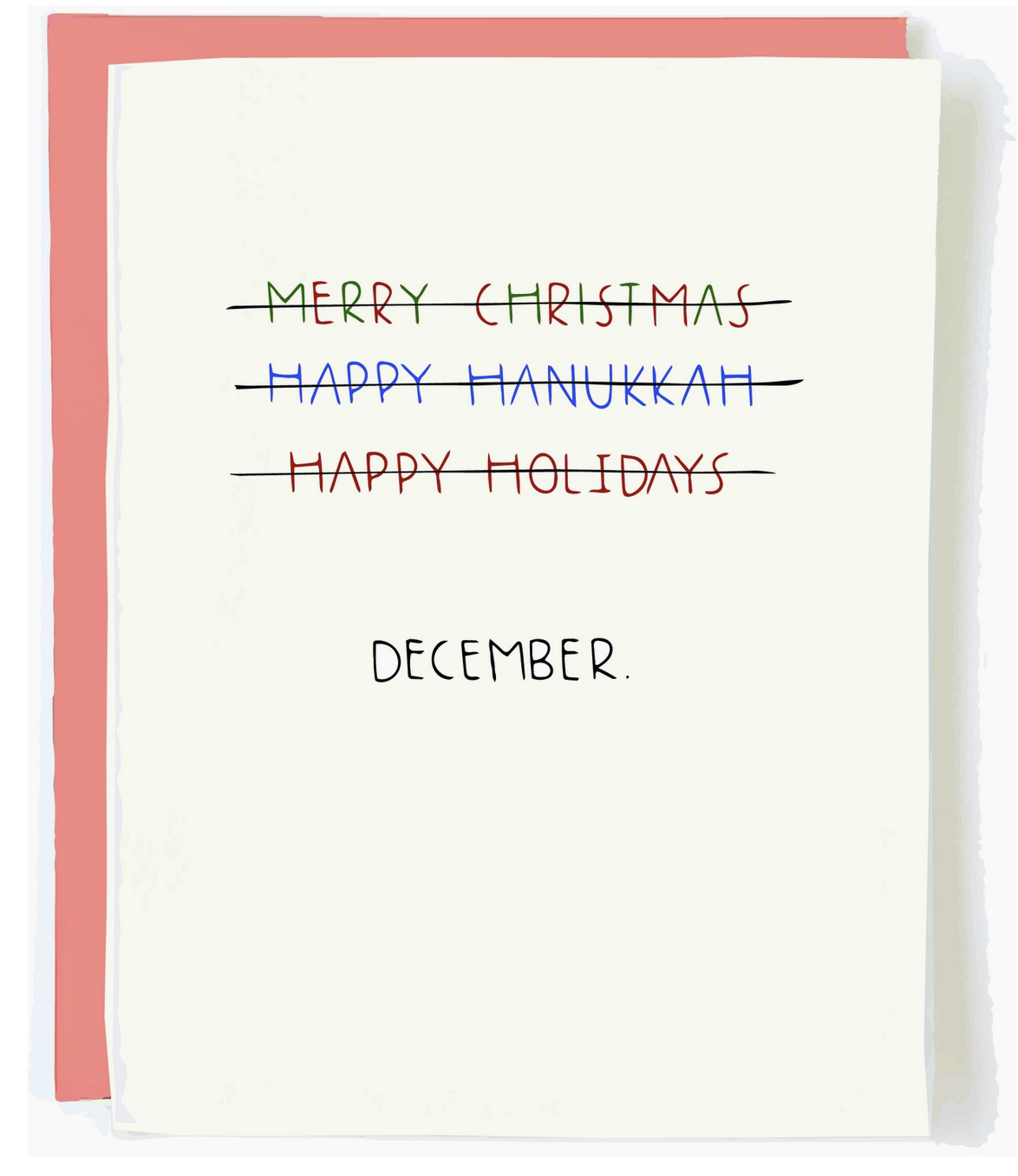 Pop + Paper Politically Correct Holiday Card