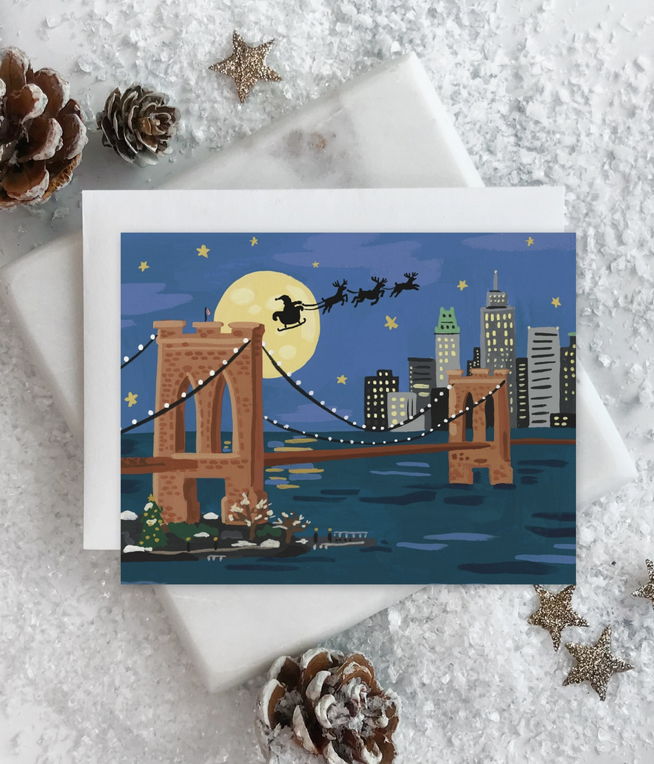 Idlewild NYC Holiday - Brooklyn Bridge - Box Set of 8