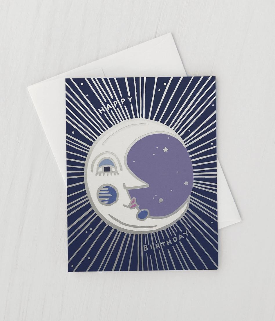 Idlewild Moon Birthday Card
