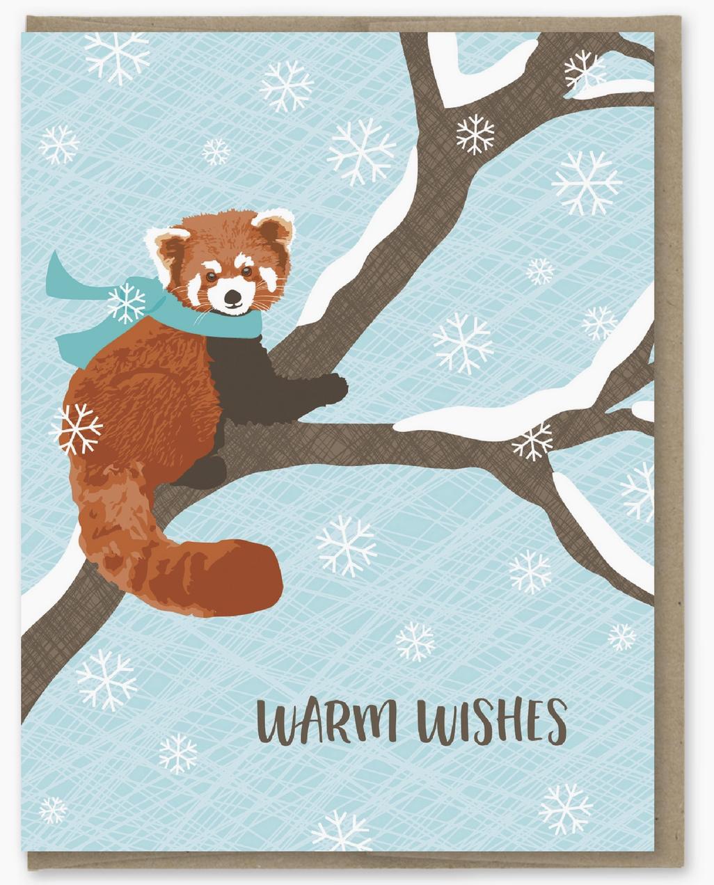 Modern Printed Matter Red Panda Holiday Card