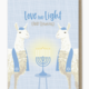 Modern Printed Matter Love and Light and Llamas Hanukkah Card