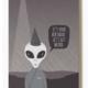 Modern Printed Matter Lets Get Weird Alien Birthday Card