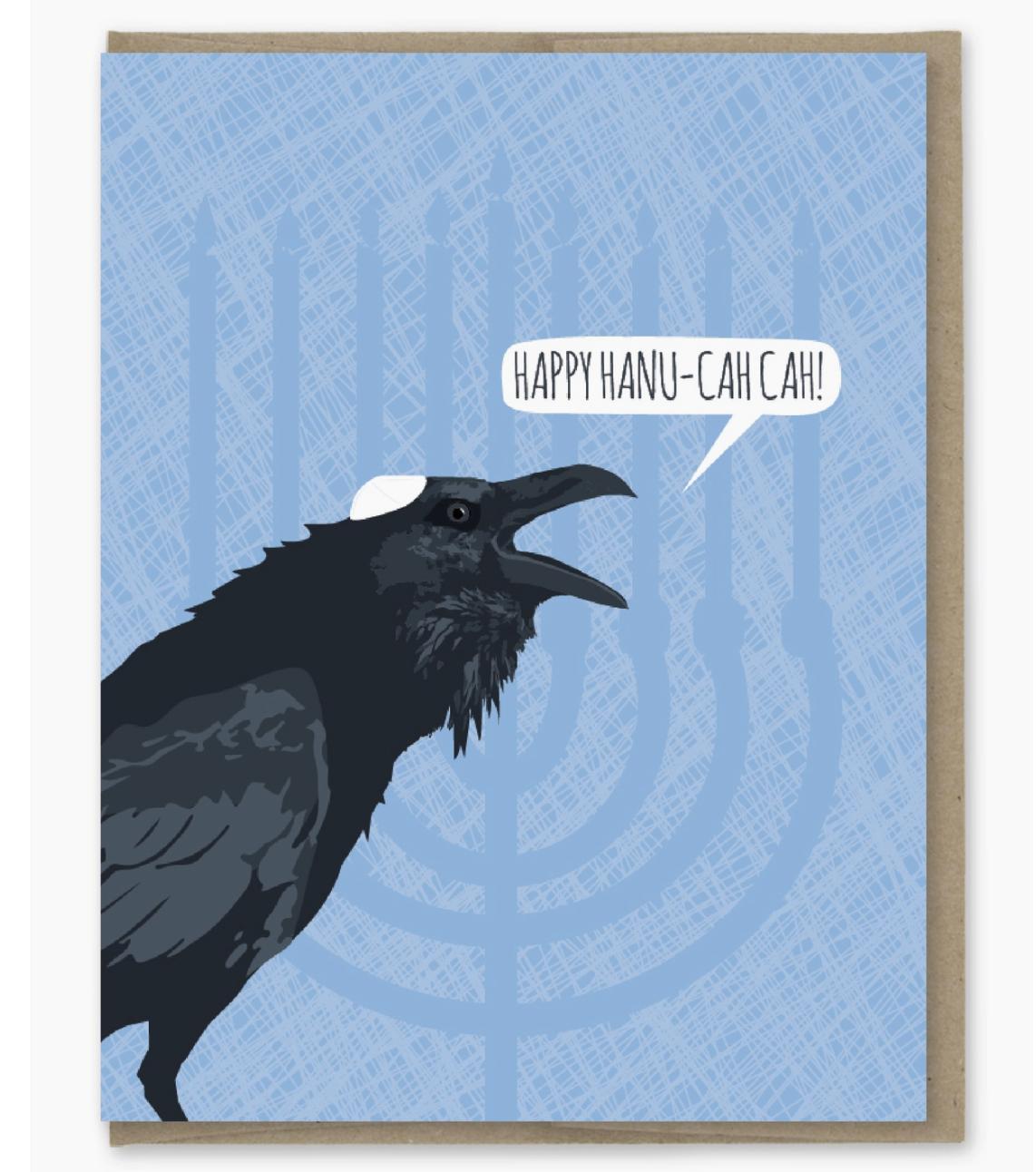 Modern Printed Matter Happy Hanukkah Card (Hanu-cah Cah)