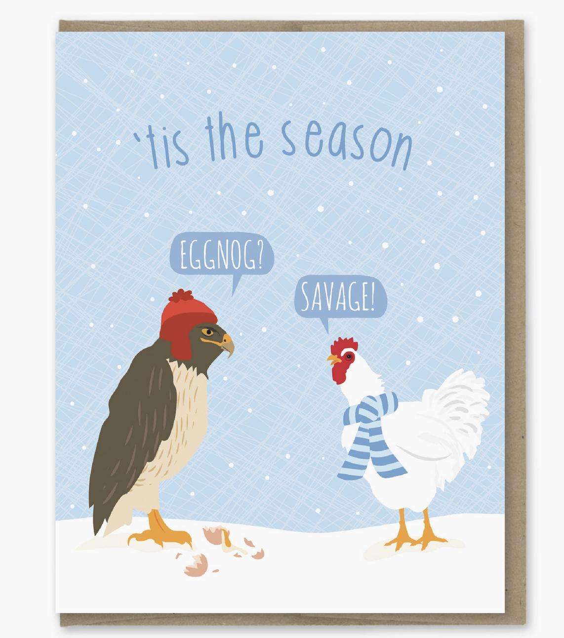 Modern Printed Matter Eggnog Holiday Card
