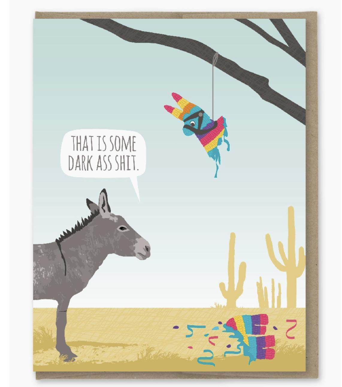 Modern Printed Matter Donkey Pinata Birthday Card
