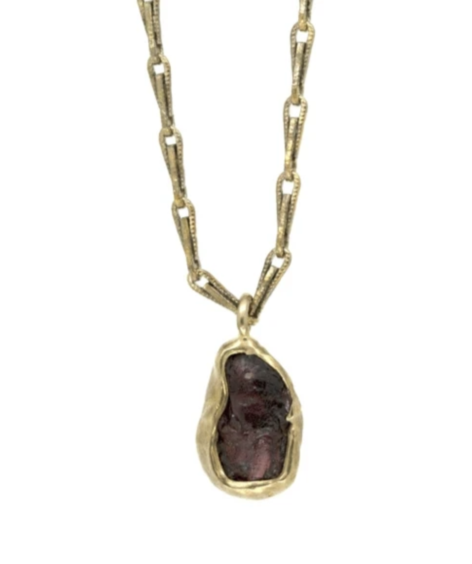 Emilie Shapiro Guardian Necklace Garnet