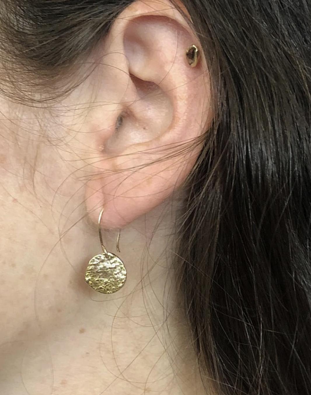 Emilie Shapiro Full Moon Earring Brass