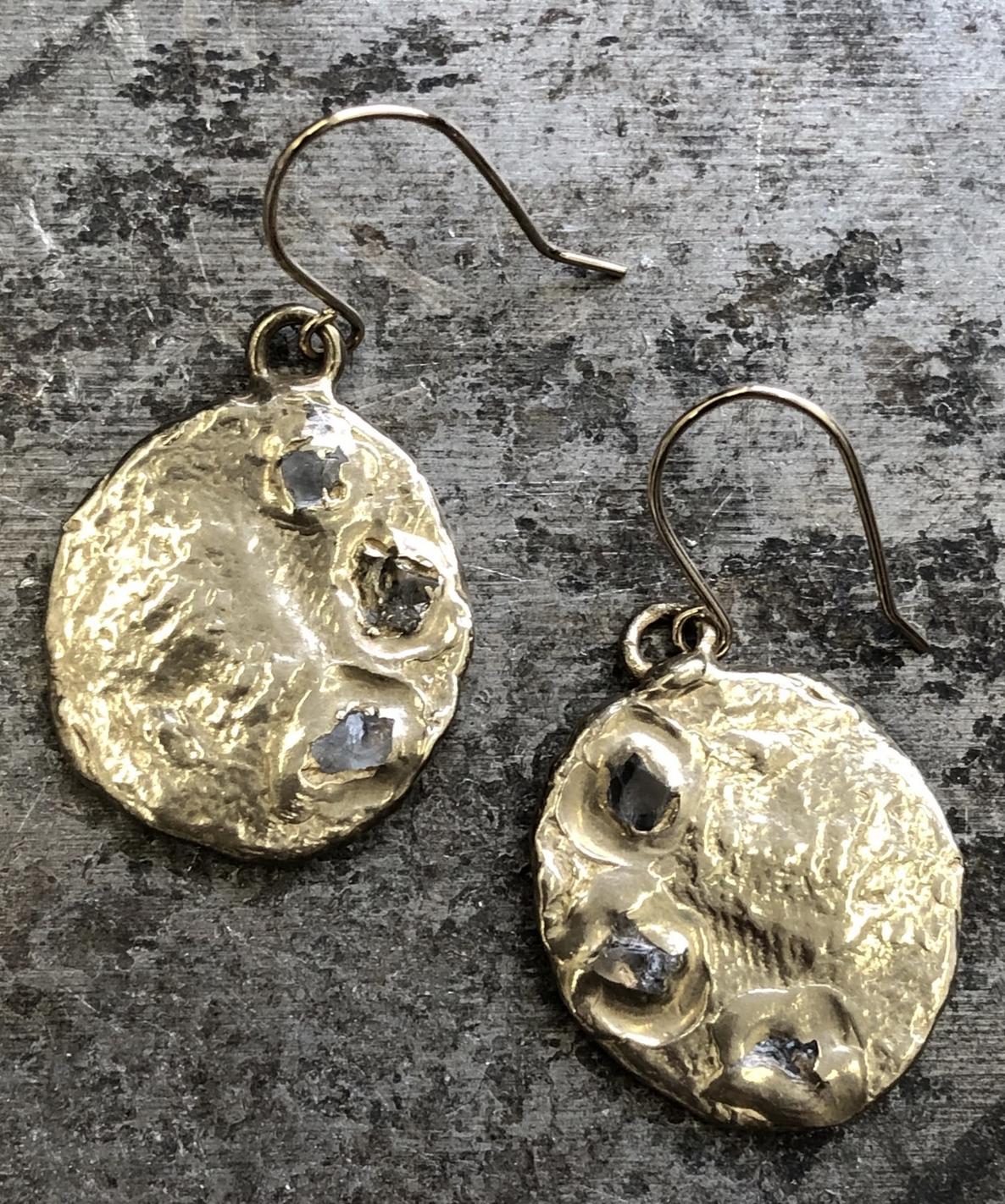 Emilie Shapiro Crescent Earring Brass