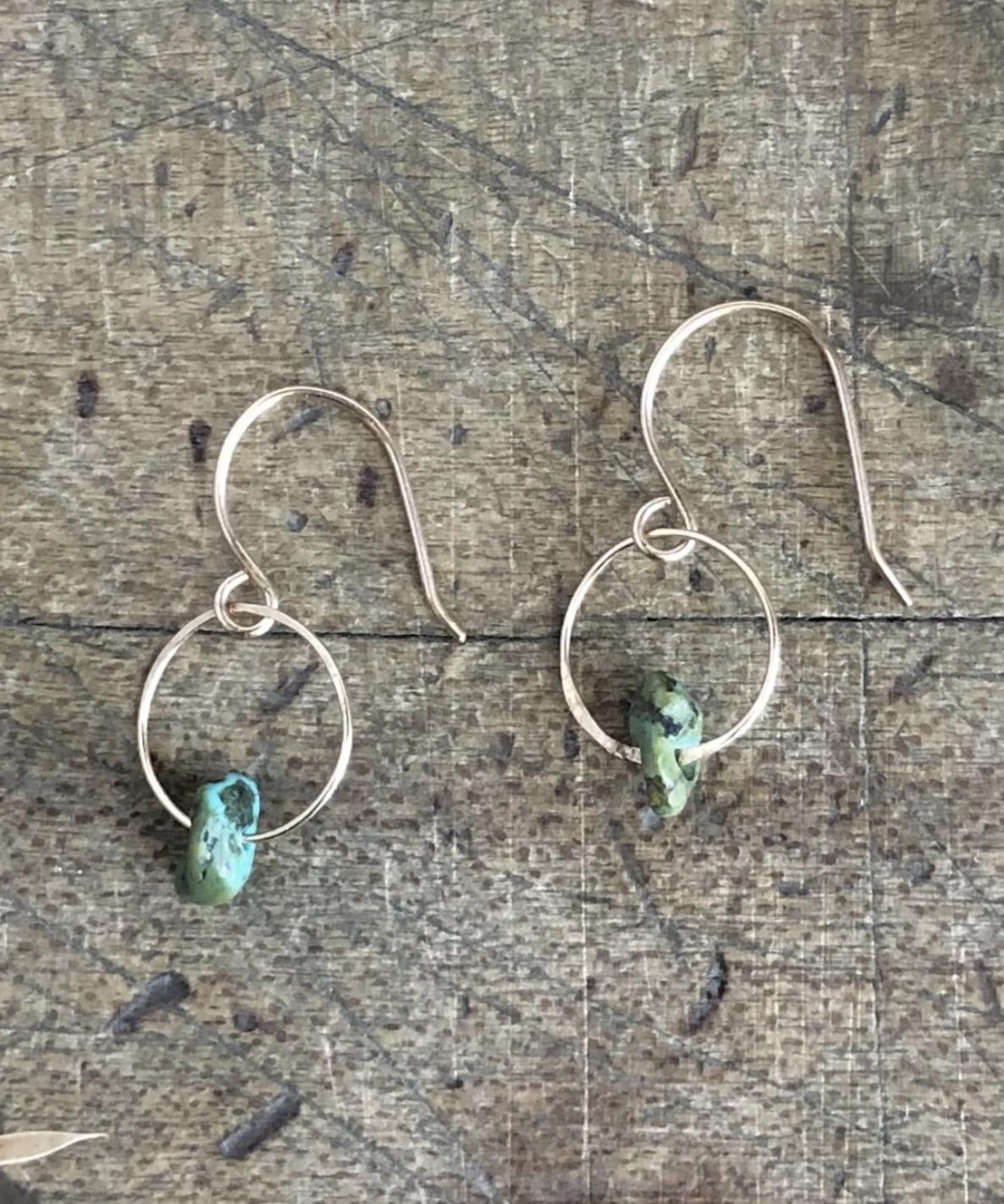 Emilie Shapiro Birthstone Earring-December(Turquoise)