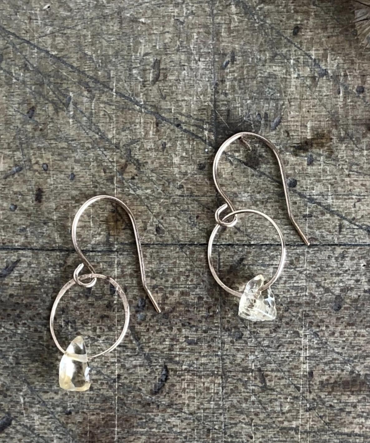 Emilie Shapiro Birthstone Earring-November(Citrine)