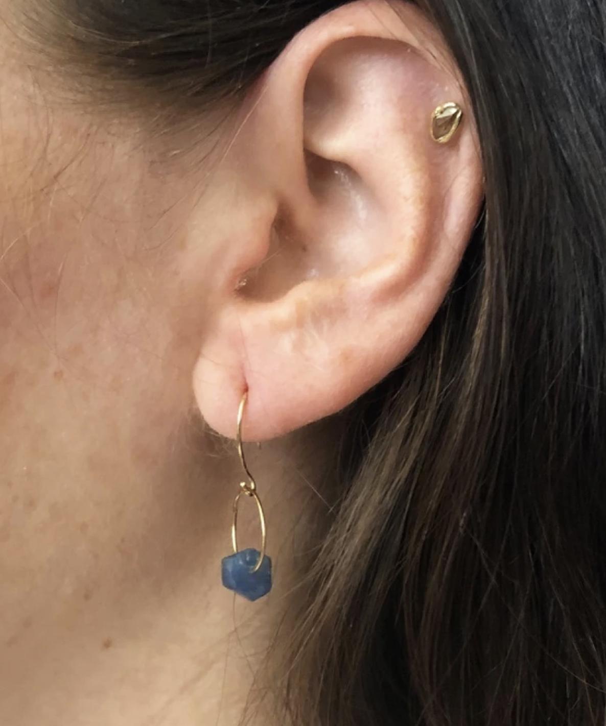 Emilie Shapiro Birthstone Earring-September(Sapphire)