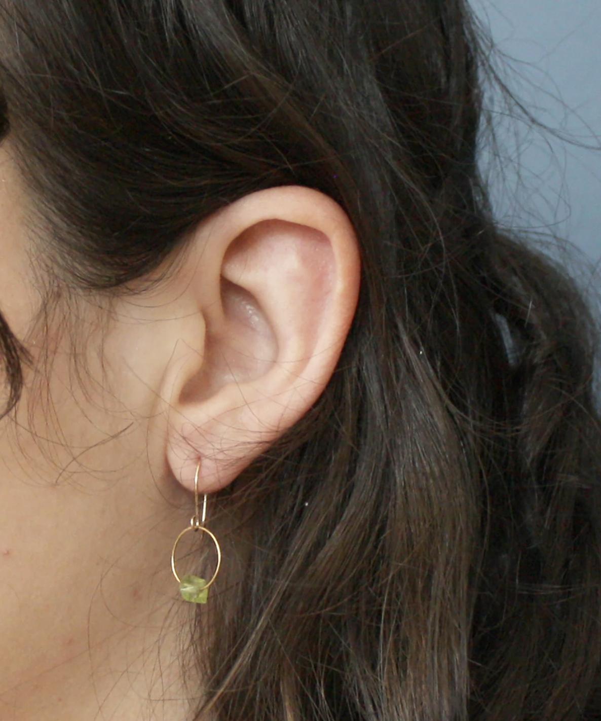 Emilie Shapiro Birthstone Earring-August(Peridot)