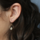 Emilie Shapiro Birthstone Earring-March(Aquamarine)