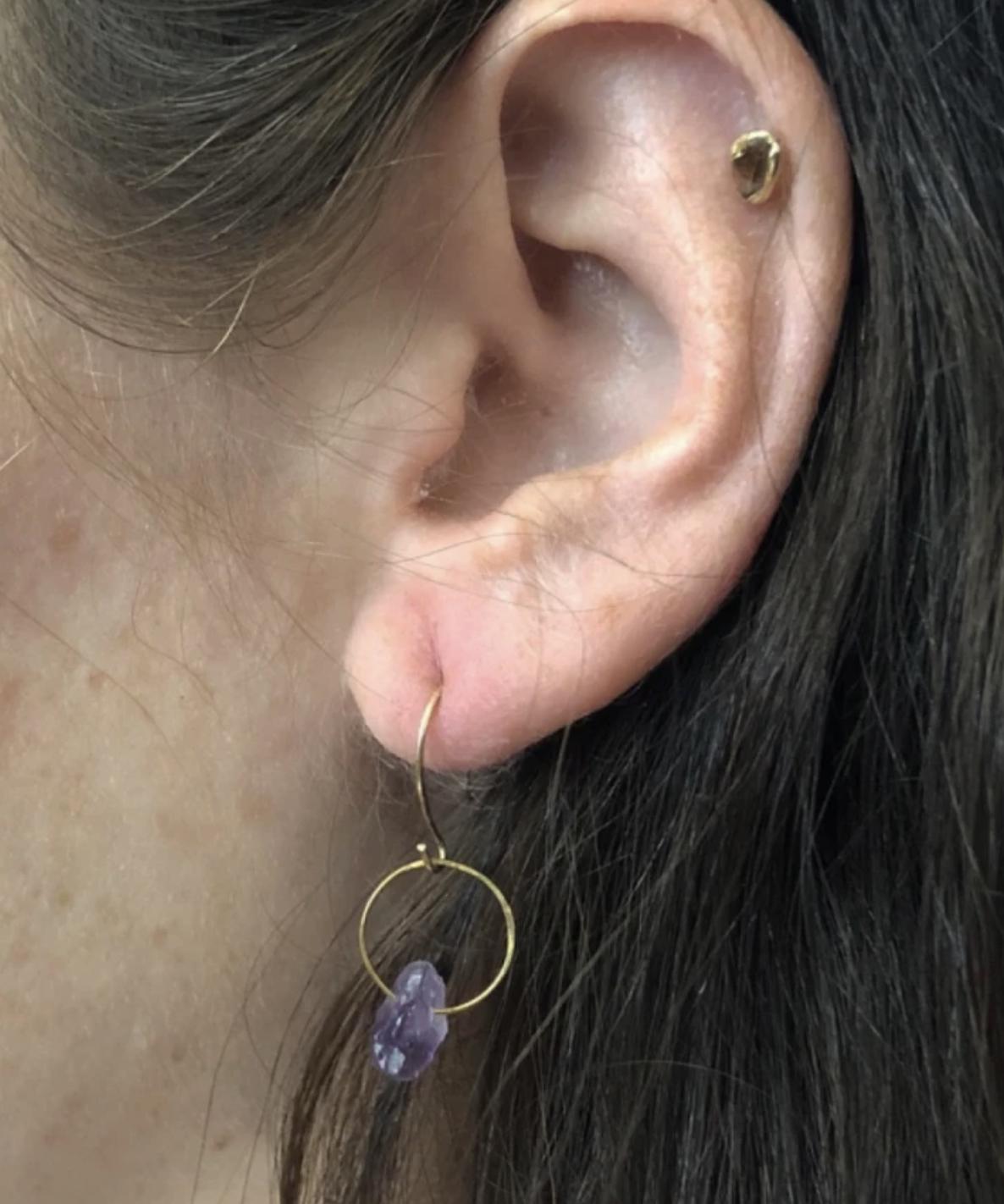 Emilie Shapiro Birthstone Earring-February(Amethyst)