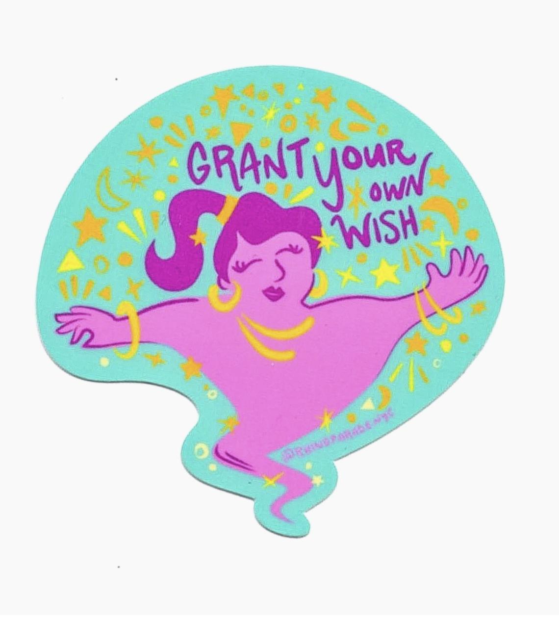 Rhino Parade Grant Your Own Wish Sticker