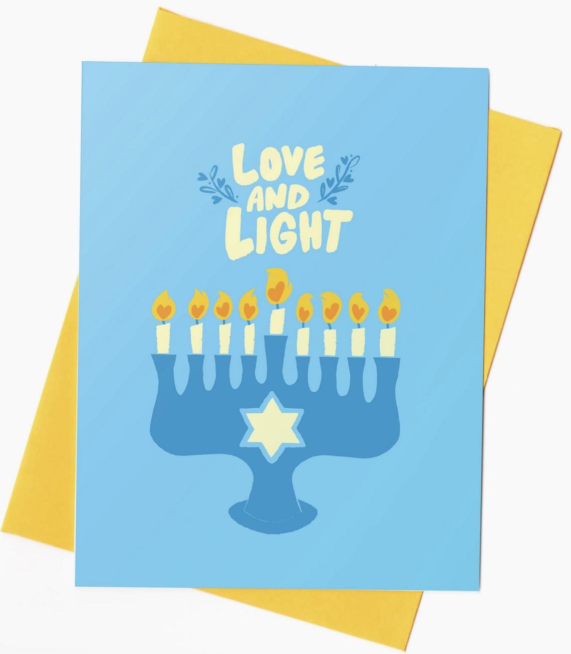 Rhino Parade Love and Light Hanukkah Card