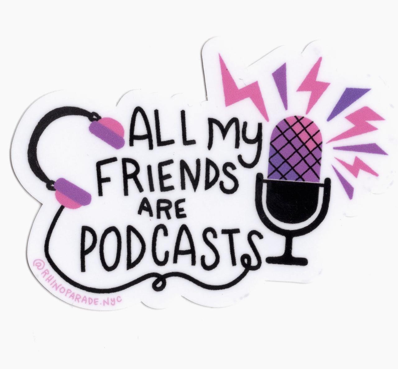 Rhino Parade Podcast BFF Sticker