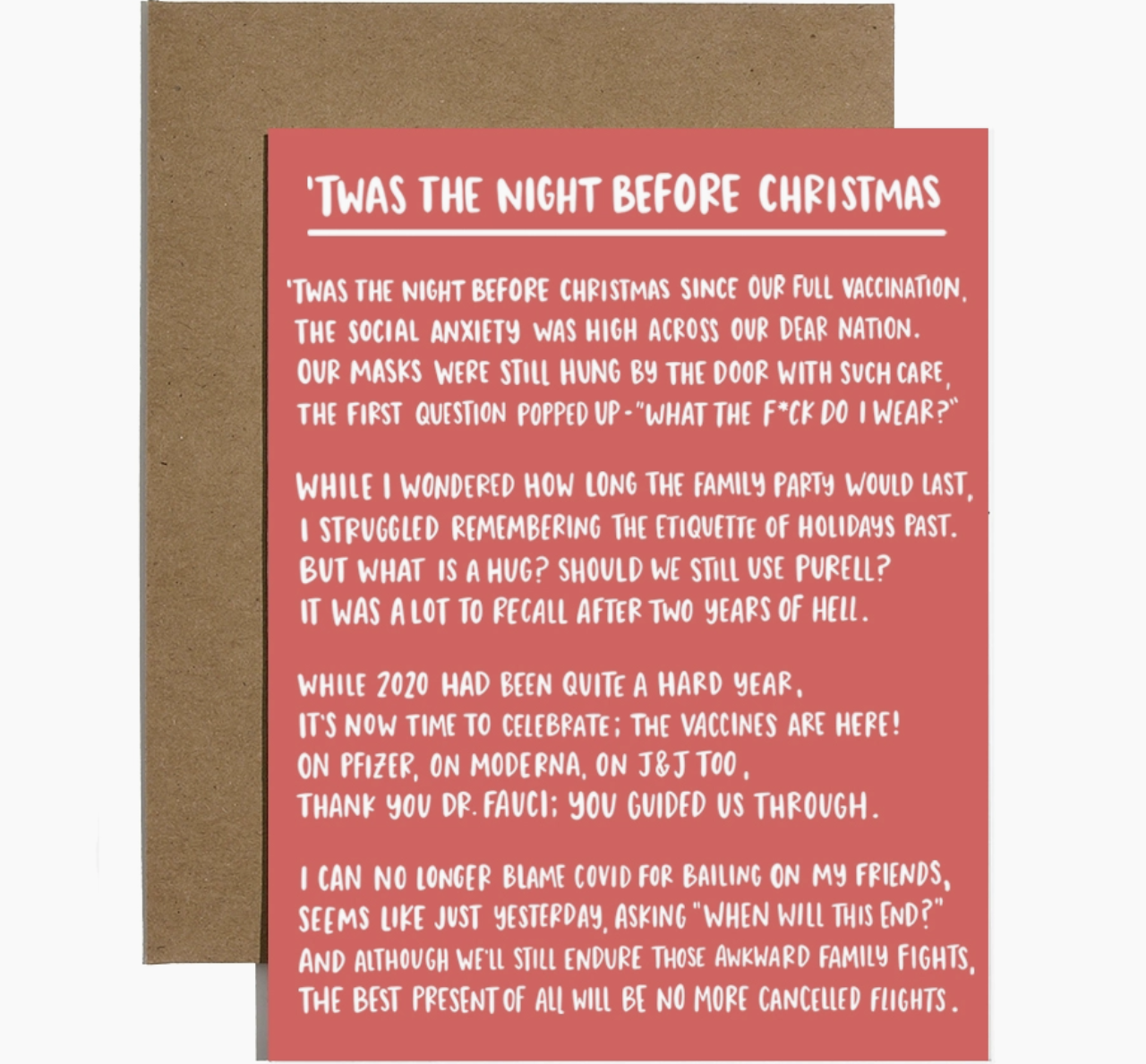 Brittany Paige 'Twas The Night Before COVID Christmas Card