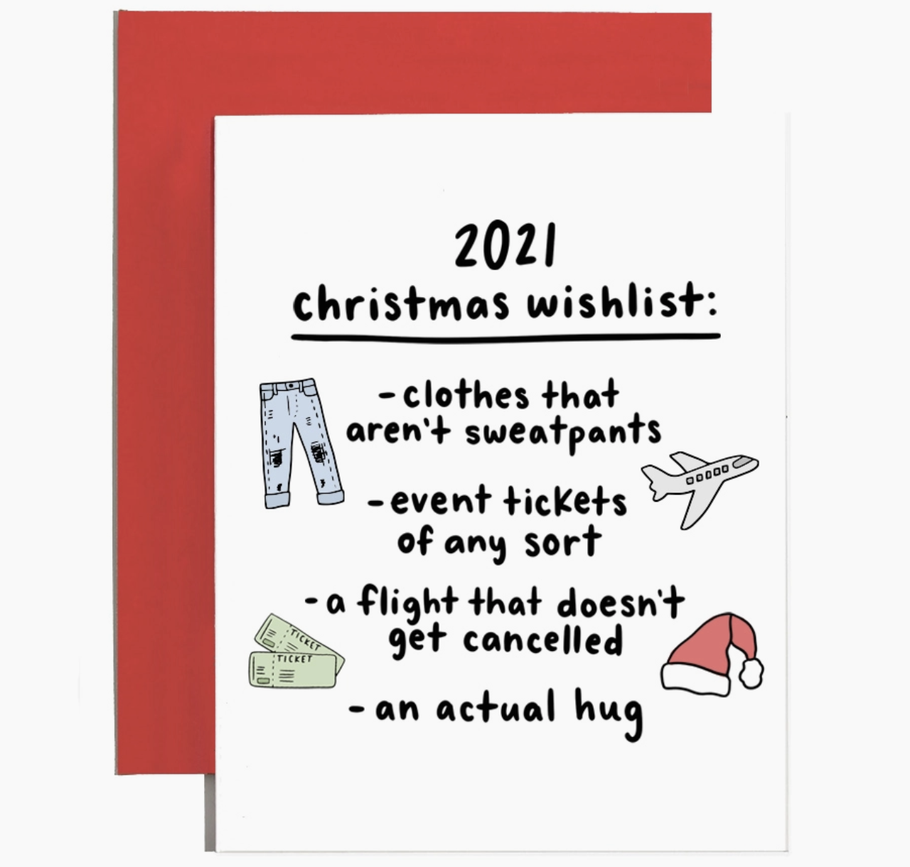Brittany Paige 2021 Christmas List Card