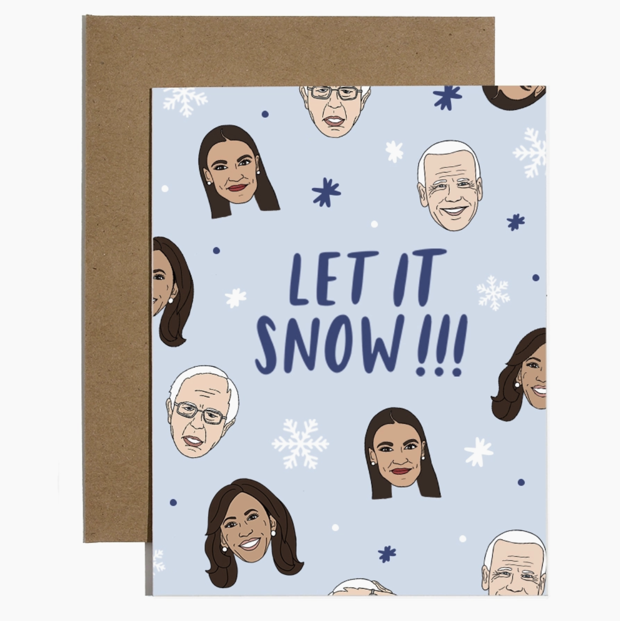 Brittany Paige Let it Snow Liberal Holiday Card