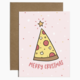 Brittany Paige Merry Crustmas Pizza Sticker Card