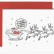 Brittany Paige Santa's Vaccine Sleigh Christmas Card