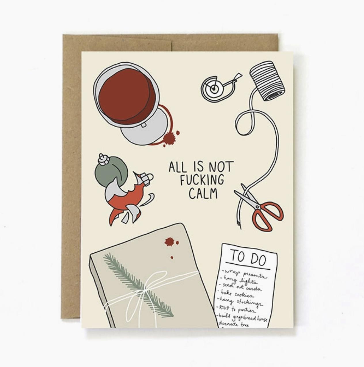 Unblushing Not Calm Card