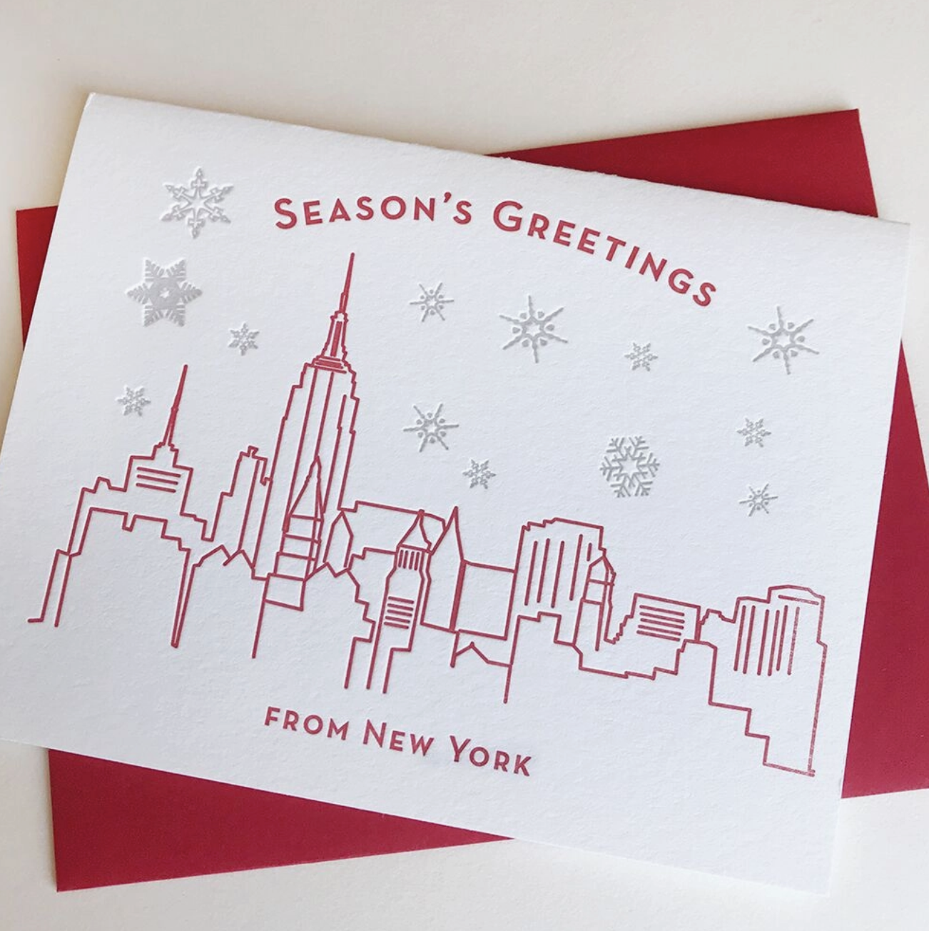 Steel Petal Press Season's Greetings New York-Set of 6