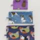 Baggu Flat Pouch Set-Garden Pets