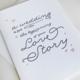 Steel Petal Press Love Story Card
