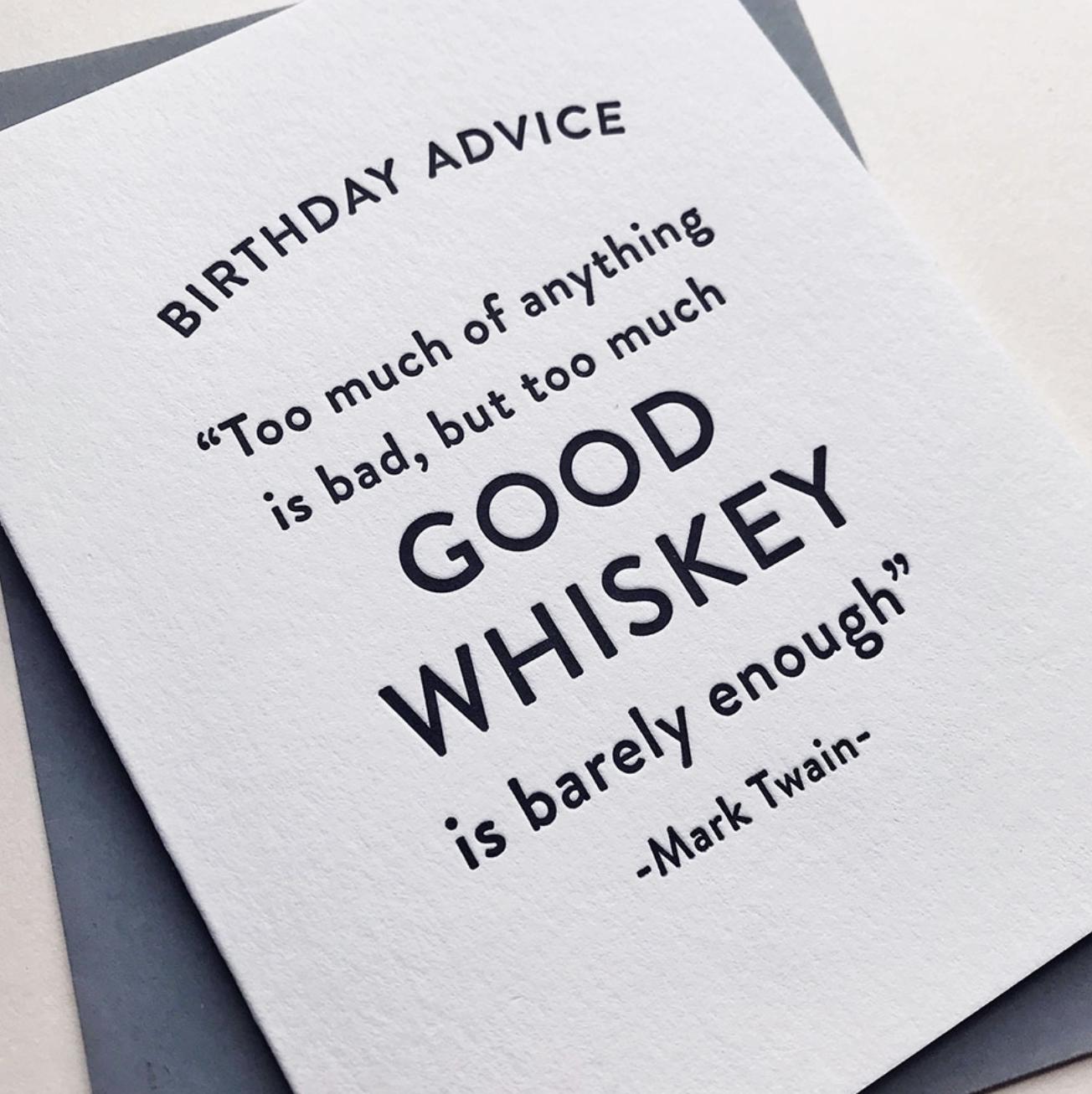 Steel Petal Press Birthday Whiskey Card