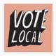 Culture Flock Vote Local Sticker Pink