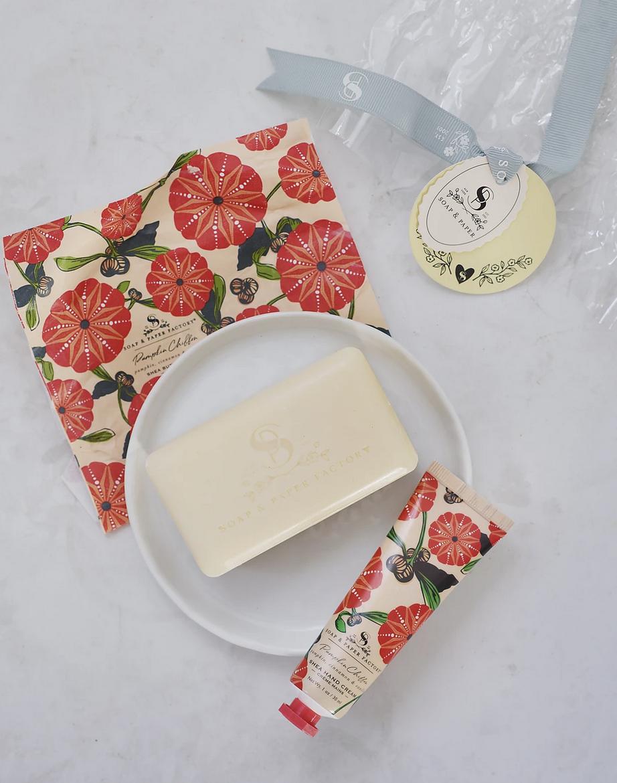 Soap & Paper Factory Pumpkin Chiffon Hand Cream & Soap Gift Set