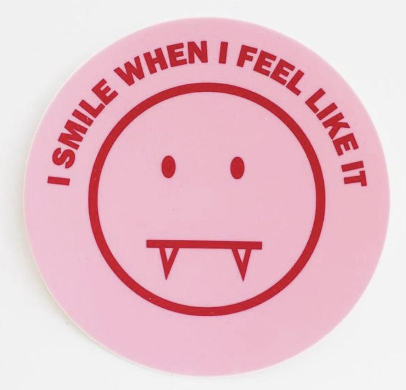 Culture Flock Sharp Smile sticker