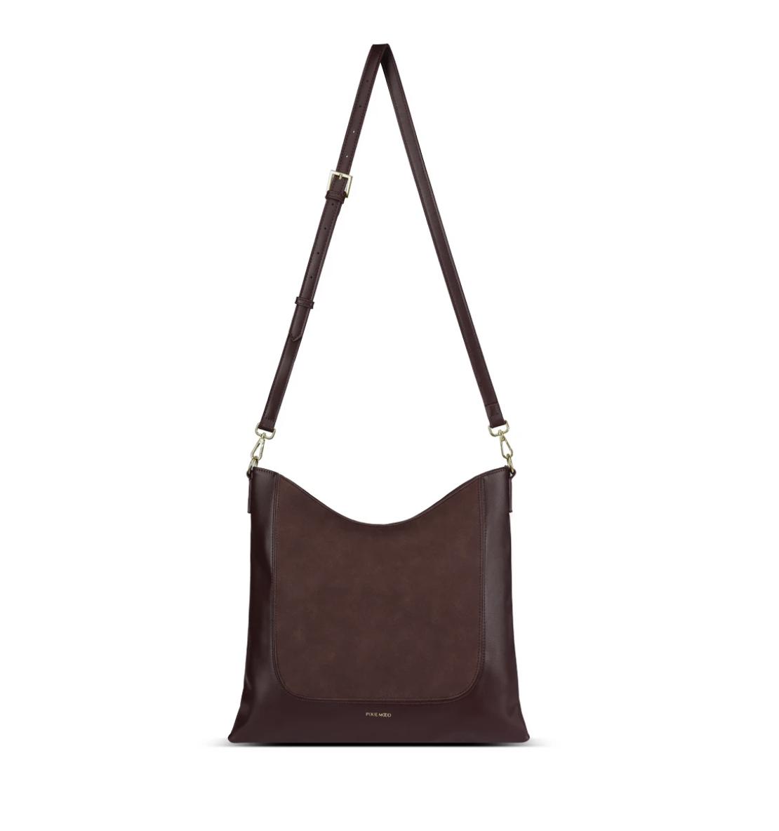 Pixie Mood Millie Shoulder Bag-Chocolate/Nubuck