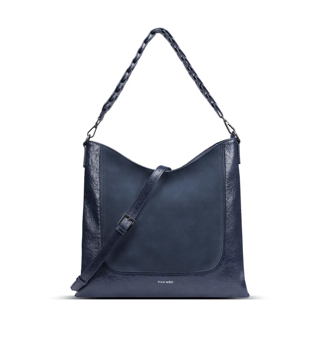 Pixie Mood Millie Shoulder Bag-Vintage Blue/Nubuck