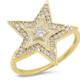 tai Large White Enamel Star Ring